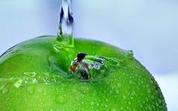 - zielony textured jabłko Zdjęcie Stock