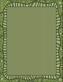 Zielony tło z kropkami i paskującą granicą Obrazy Royalty Free