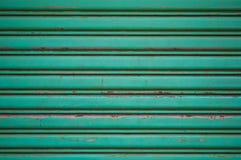 Zielony tło zrobił metalowi Fotografia Royalty Free