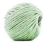 Zielony tradycyjny gejtaw, szydełkowa niciana rolka odizolowywająca na białym tle Zdjęcia Royalty Free