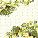 Zielony tradycyjny Japoński tło Zdjęcia Stock