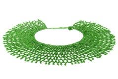 Zielony Tradycyjny Z paciorkami Neckwear, afrykanin, Odizolowywający na bielu Zdjęcia Royalty Free