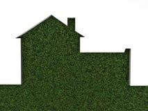 zielony trawa dom Zdjęcia Stock