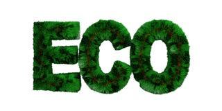 Zielony trawiasty w?osiany eco odizolowywa? ci?cie za bia?ym tle przeciw ilustracja 3 d ilustracji