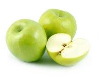 zielony trzy jabłka Fotografia Stock