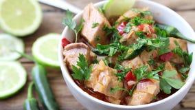 Zielony tuńczyka curry zbiory