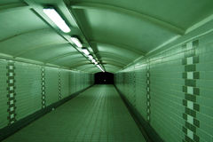zielony tunel Obraz Royalty Free