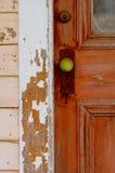 zielony uchwyt drzwi Fotografia Royalty Free