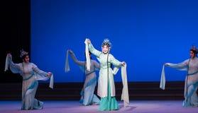 """Zielony węża princess Opera""""Madame Snake†Biały  zdjęcie royalty free"""