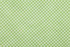 Zielony W kratkę tablecloth tło fotografia royalty free