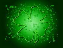 zielony w shamrock Obrazy Royalty Free