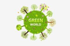 zielony wektorowy świat ilustracja wektor