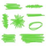 Zielony Wektorowy Highlighter Zdjęcia Stock