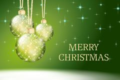 Zielony wesoło kartki bożonarodzeniowa tła wakacje Obraz Royalty Free
