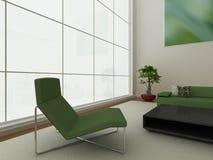 zielony wewnętrzny nowożytny Fotografia Stock
