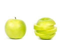 - zielony white jabłko fotografia stock