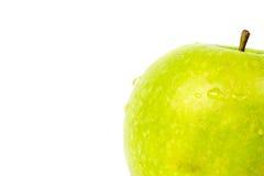 - zielony white jabłko obraz stock