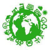Zielony świat Zdjęcia Stock