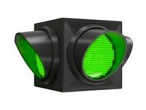 Zielony światła ruchu Zdjęcia Royalty Free
