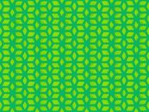 Zielony wielostrzałowy sześcianu wzór obrazy stock