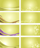 Zielony wizytówki tło Obraz Stock