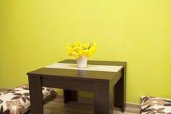 Zielony wnętrze żywy pokój Fotografia Royalty Free