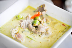 Zielony wołowina curry, Tajlandzka kuchnia Fotografia Royalty Free