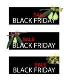 Zielony Wodny Apple na Black Friday sprzedaży sztandarze Zdjęcie Stock