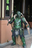 Zielony wojownika kostium Zdjęcia Stock