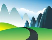 zielony wzgórze obraz royalty free