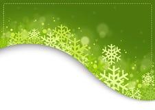 Zielony Xmas tło ilustracji