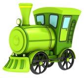 Zielony zabawka pociąg Zdjęcia Royalty Free