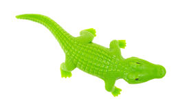Zielony zabawkarski aligator Fotografia Royalty Free