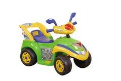 Zielony zabawkarski samochód Zdjęcia Royalty Free