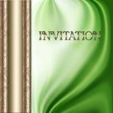 zielony zaproszenie Obraz Stock
