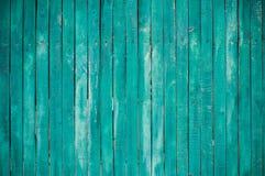 zielony zaszaluje drewniany Obrazy Royalty Free