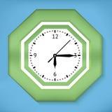 Zielony zegar Fotografia Stock