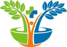 zielony ziołowy logo ilustracji