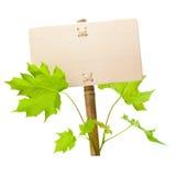 zielony znak Fotografia Stock