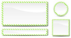 zielony znak Obrazy Stock