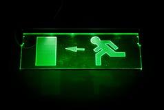 zielony znak wyjście fotografia stock