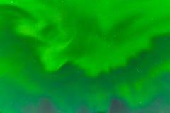 Zielony zorz borealis nocnego nieba tła wzór Zdjęcia Stock