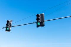 zielonych świateł czerwony ruch drogowy kolor żółty Zdjęcie Royalty Free