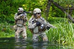 Zielonych beretów żołnierze w akci Fotografia Stock
