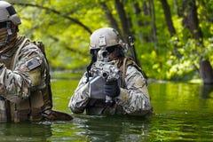 Zielonych beretów żołnierze w akci Obraz Royalty Free