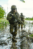 Zielonych beretów żołnierze w akci Fotografia Royalty Free