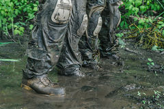 Zielonych beretów żołnierze w akci Obraz Stock