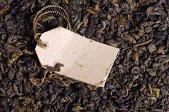 zielonych etykietki liść papierowa herbata Obrazy Royalty Free