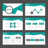 Zielonych i czarnych prezentacja szablonów Infographic Abstrakcjonistyczny projekt Obrazy Stock