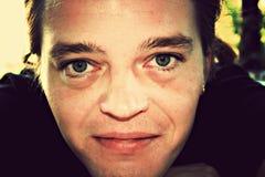 Zielonych oczu mężczyzna Obrazy Royalty Free